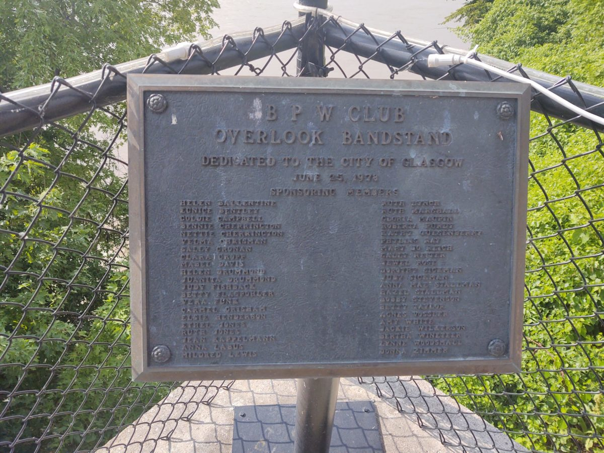 BPW Overlook Bandstand Marker Dedication - Glasgow, MO