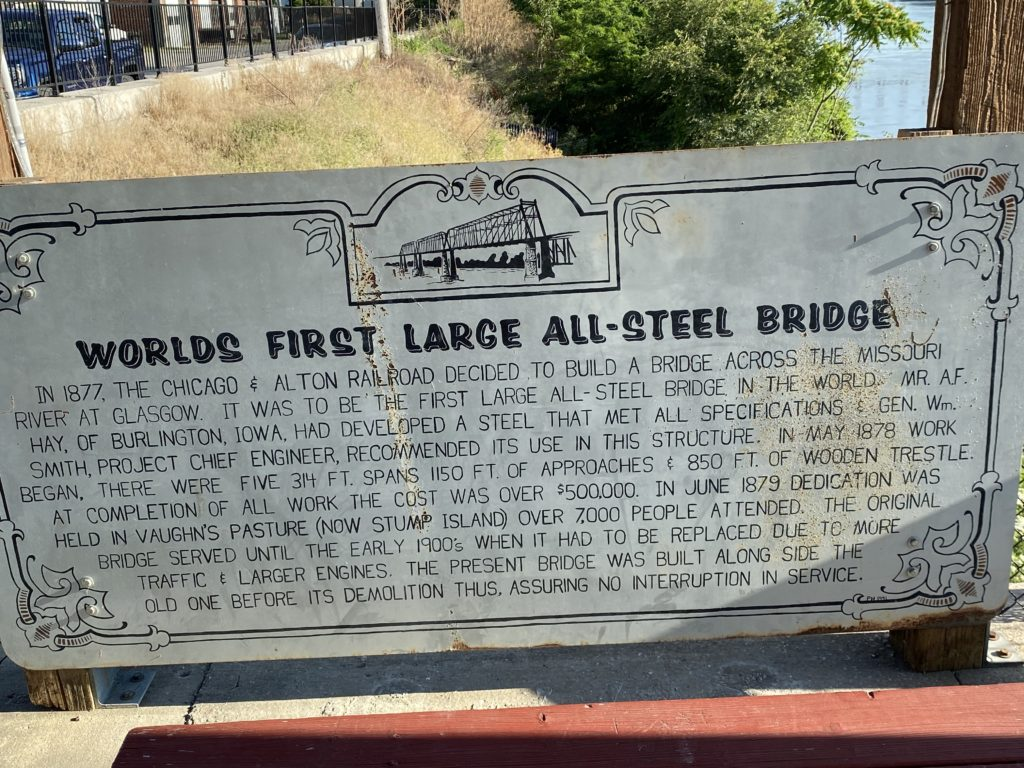 Worlds First Steel Bridge Marker - Built in 1877