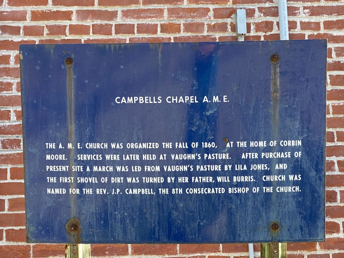 Campbell Chapel A.M.E. Historical Church Marker
