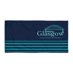 Glasgow MO Beach Towel - Dark