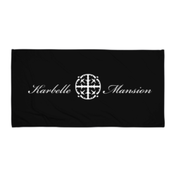 Karbelle Mansion Beach Towel - Black and White