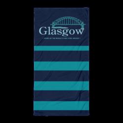 Glasgow MO Beach Towel - Dark Vertical