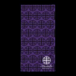 Karbelle Mansion Beach Towel - Black and Purple